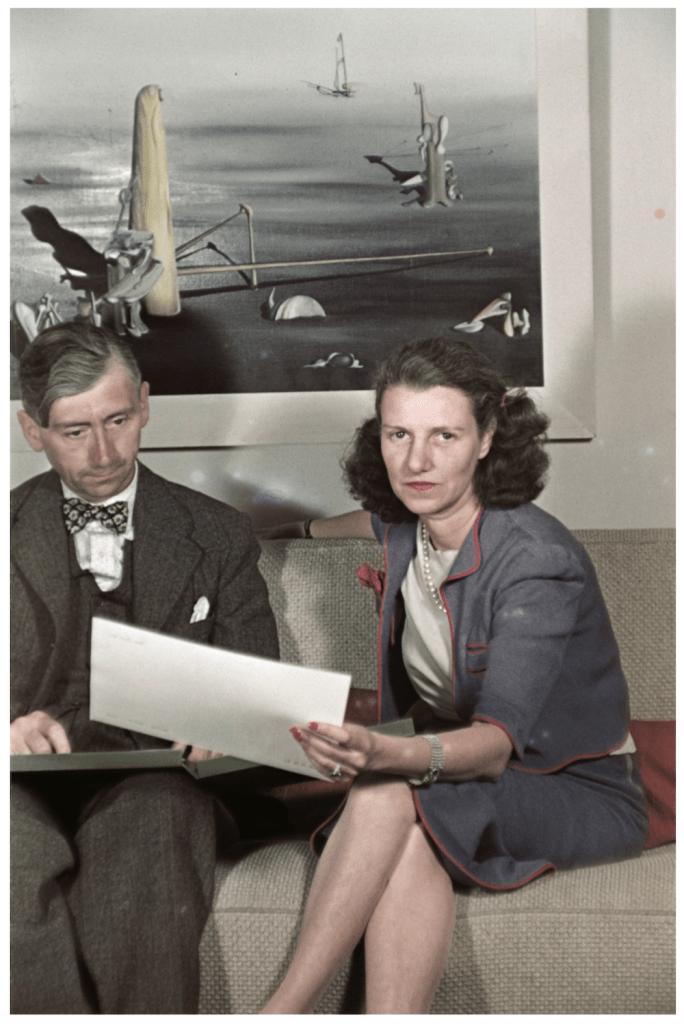 Herbert Read and Peggy Guggenheim at Guggenheim Jeune 1939