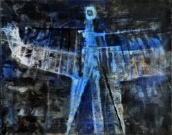 Luigi Pericle, L'Arcangelo IV, Matri Dei d.d.d., 1965, tecnica mista su tela, 51 × 65 cm