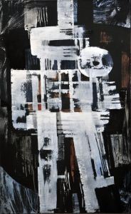Luigi Pericle, Mahâkâlî, Matri Dei d.d.d., 1965, Mixed media on canvas, 129,5 x 80 cm