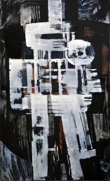 Luigi Pericle, Mahâkâlî, Matri Dei d.d.d., 1965, Mixed media on canvas, 129,5 x 80 cm
