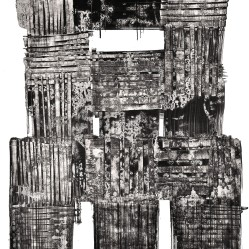 Luigi Pericle, Matri Dei d.d.d., 1964, India ink on paper, 600 x 420 mm