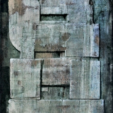 Luigi Pericle, Matri Dei d.d.d., 1978, Mixed media on masonite, 42 × 29,5 cm