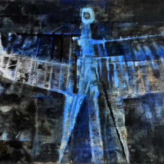 Luigi Pericle, The Archangel IV, Matri Dei d.d.d., 1965, Mixed media on canvas, 51 × 65 cm