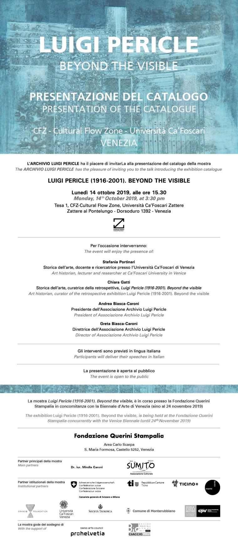 Luigi Pericle -Presentazione Catalogo - Venezia 2019_INVITO_